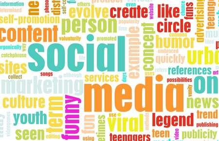 media distribution: Social Media Concept as a Abstract Background