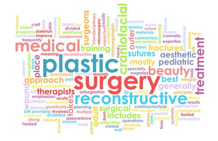face surgery: Plastic Surgery Concept as a Medical Procedure Stock Photo
