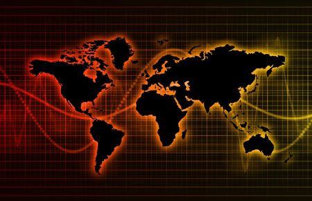 Technology Abstract World Background as Clip Art photo