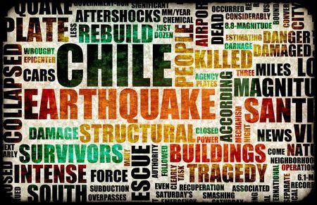 Chile Earthquake Crisis Disaster as a Concept Stock Photo - 6503600