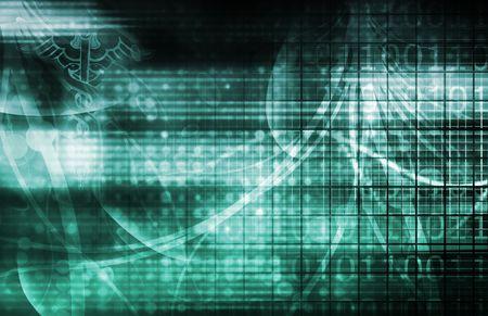 medische kunst: Medische industrie achtergrond technologie als een kunst