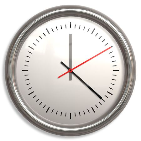 Isolated Clock Stylish and Modern Clip Art photo