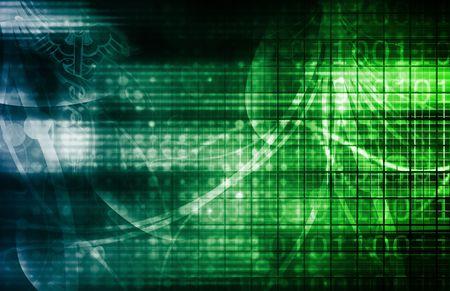 Fondo de tecnología como un arte abstracto de digital