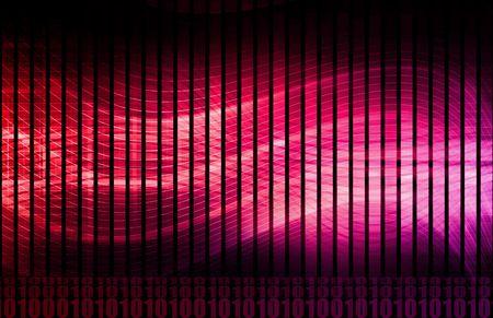 Énergie qui coule comme arrière-plan Abstract numérique