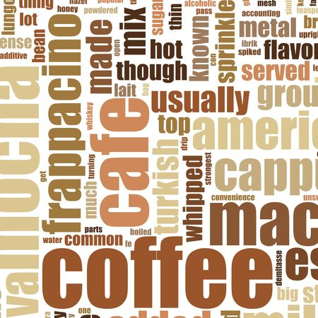 Coffee Artistic Menu as a Abstract Background Stock Photo - 6535605