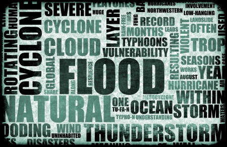 disaster recovery: Flood Natural Disaster as a Art Background