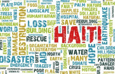 Haiti Earthquake Crisis Disaster as a Concept photo