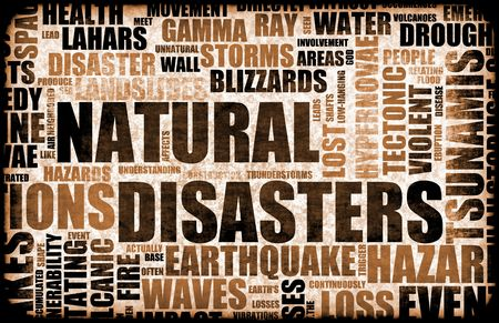 Natural Disasters Grunge as a Art Background Stock Photo - 6535641