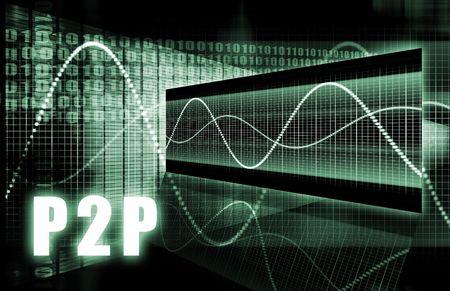 P2P or Peer to Peer Concept photo