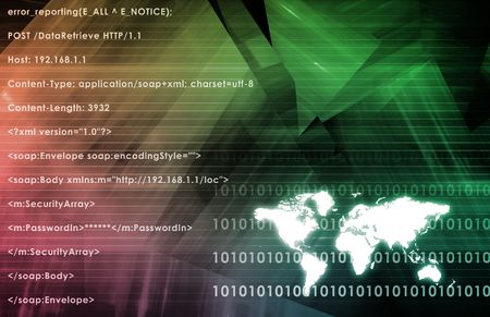 Internet World Wide Web Abstract Tech Background Stock Photo - 6538453