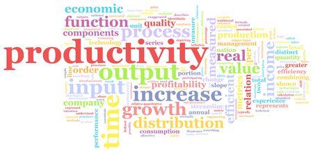 empleados trabajando: Productividad en el lugar de trabajo como un concepto