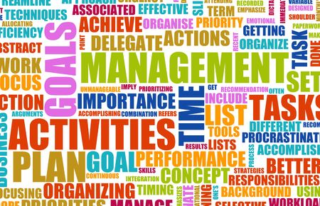 priorities: Time Management Concept as a Abstract Background
