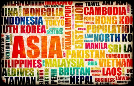 Business in Asia Concept with Asian Countries photo