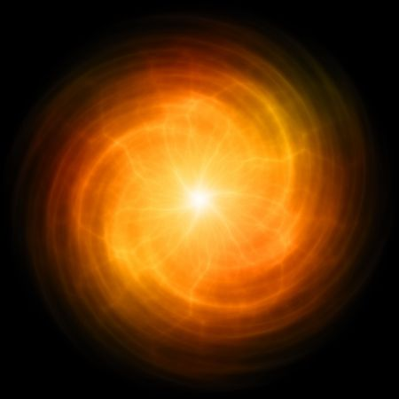 pulsing: Energy Flare Orb With a Pulsing Power Streaks Stock Photo