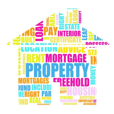 terminology: Property Real Estate Concept as a Abstract Stock Photo