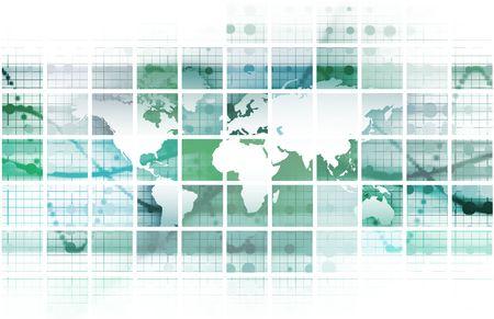 通信: 抽象的な背景としてグローバル会議ワールド