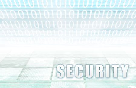 Security on a Clear Blue Tech Background Stock Photo - 6569240