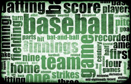 homerun: Baseball Game as a Sport Grunge Background