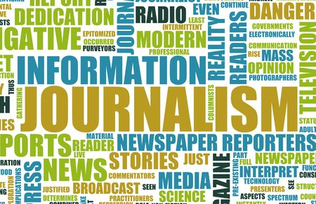 Journalism Career Newspaper Report as a Concept Фото со стока