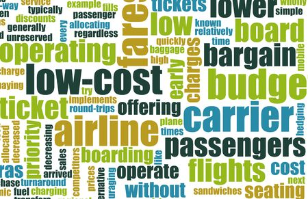Low Cost Carrier Budget Airline Concept Art photo