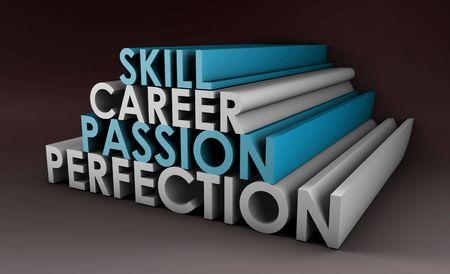 umiejętności: UmiejÄ™tnoÅ›ci biznesowe dla Passion i kariery w 3d Zdjęcie Seryjne