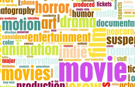 Movie Poster of Film Genres Vintage Background Stock Photo - 6592309