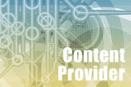 provider: Content Provider Abstract Background in Blue Color
