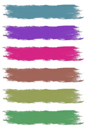 Paint Brush Strokes in Assorted Pastel Colors Stock Photo - 6592335