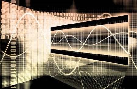 A Multimedia Technology Data as Art Background Stock Photo - 6600511