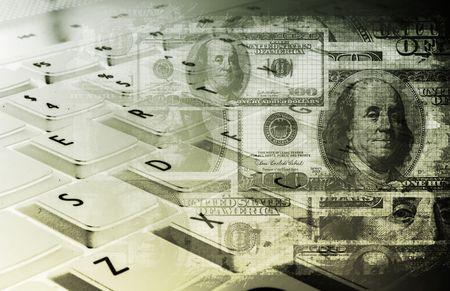 ingresos: Ganar dinero en l�nea concepto como un fondo de