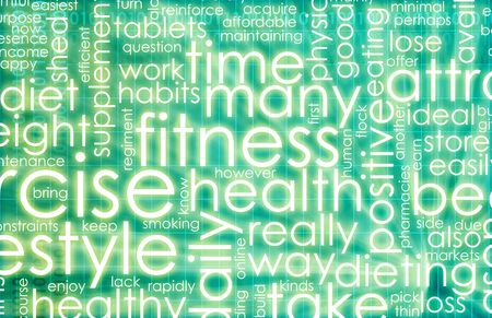 Green Fitness Background with Check List