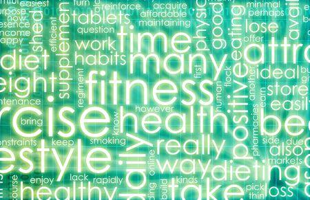 BUEN VIVIR: Verde fondo de fitness, con la lista de comprobaci�n