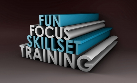 courses: Training Course Focus on Skillset in 3d Stock Photo