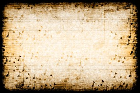 melodious: A Music Themed Abstract Grunge Background Texture Stock Photo