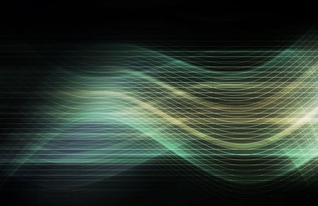 groundbreaking: Flowing Energy as a Digital Abstract Background