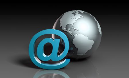 Global Internet Access with Online Business Art photo