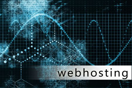 Webhosting in a Blue Data Background Illustration Stock Photo