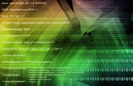System Software Program with Running Code Script Stock Photo - 6622266