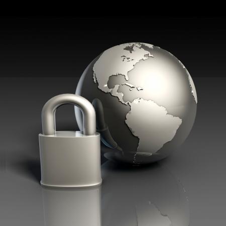 hasło: Bezpieczeństwo danych z Globe i Zablokuj z Internetu Zdjęcie Seryjne