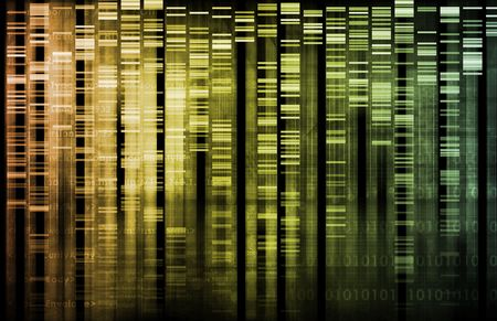 strain: DNA Research of Science Genetic Data Background Stock Photo