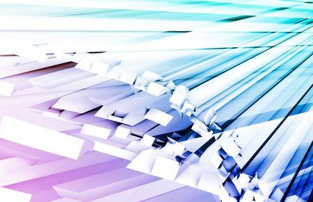 super highway: Blue Purple Fiber Optics Technology as Concept