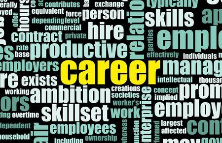 competencias laborales: Empleo de la carrera de trabajo en la industria de la contrataci�n Foto de archivo