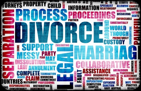 in custody: Divorce Marriage Process and the Ugly Truth Stock Photo