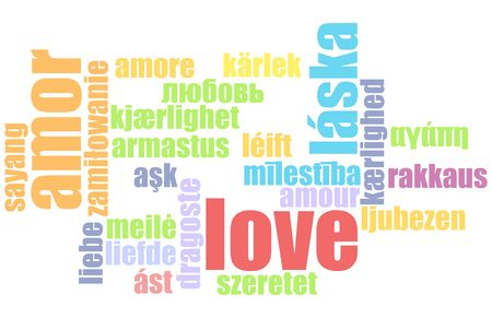 Love in Many Languages Text Abstract Background Stock Photo - 6629304