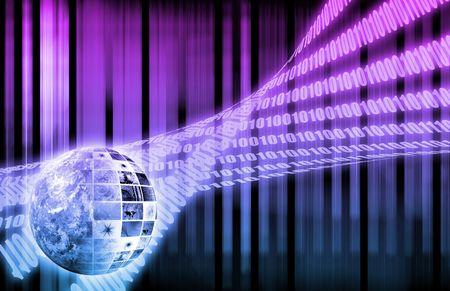 protocols: Dati globali del sistema aziendale come sfondo per il desktop Archivio Fotografico