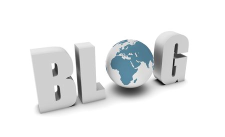 Blog Reaching a Global Audience Visitors in 3d Stock Photo - 6649012