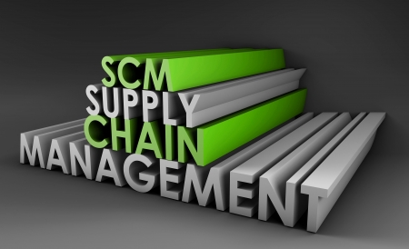 supplier: Supply Chain Management SCM Industry in 3d