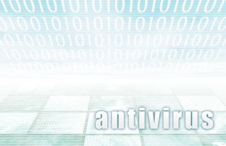 Antivirus on a Clear Blue Tech Background Stock Photo - 6663293