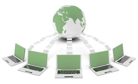 environment friendly: Green Technology 3d Idea as Environment Friendly Stock Photo