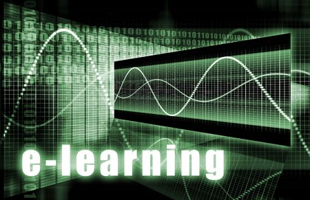 E-Learning Online Web Tech as Abstract Background photo